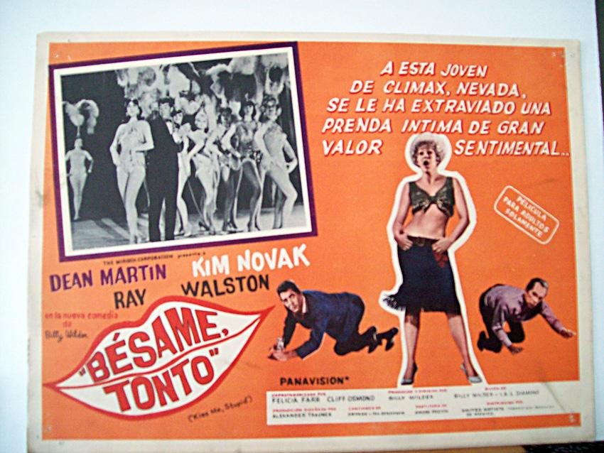 KISS ME, STUPID MOVIE POSTER/BESAME TONTO/MEXICAN LOBBY CARD