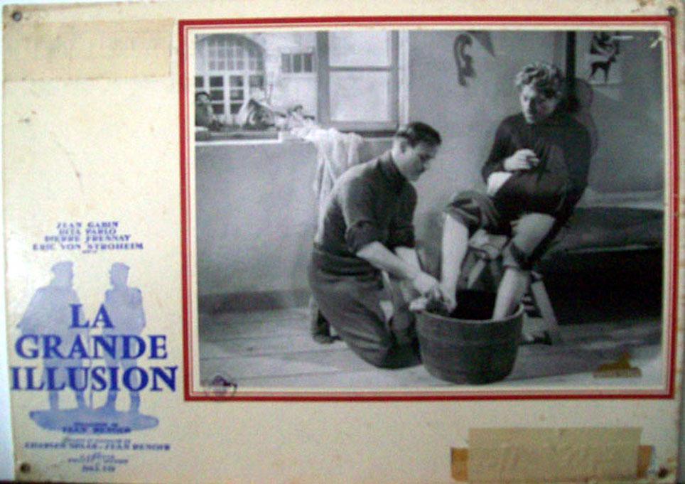 GRANDE ILLUSION MOVIE POSTER/LA GRANDE ILLUSION/SWISS LOBBY CARD