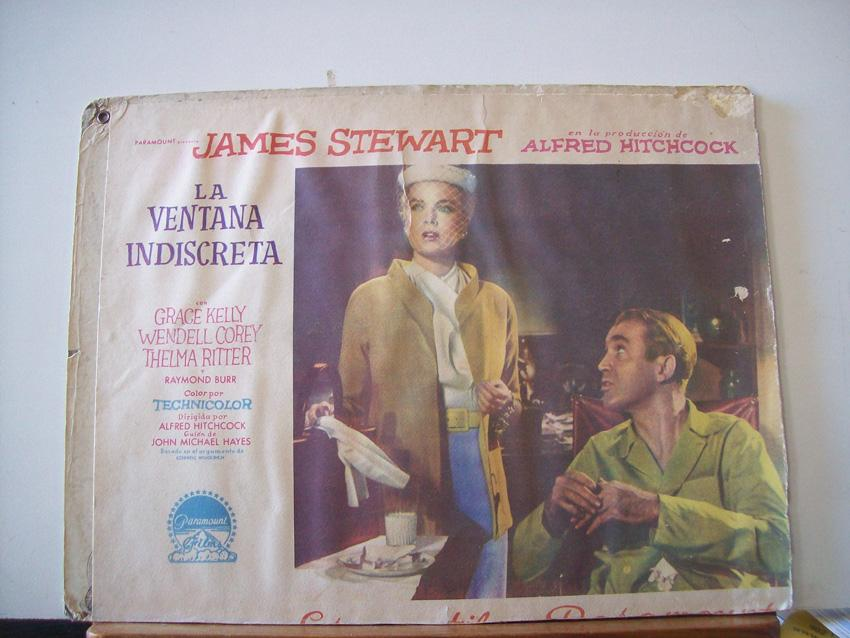 Rear Window Movie Poster La Ventana Indiscreta Lobby Card Paramount