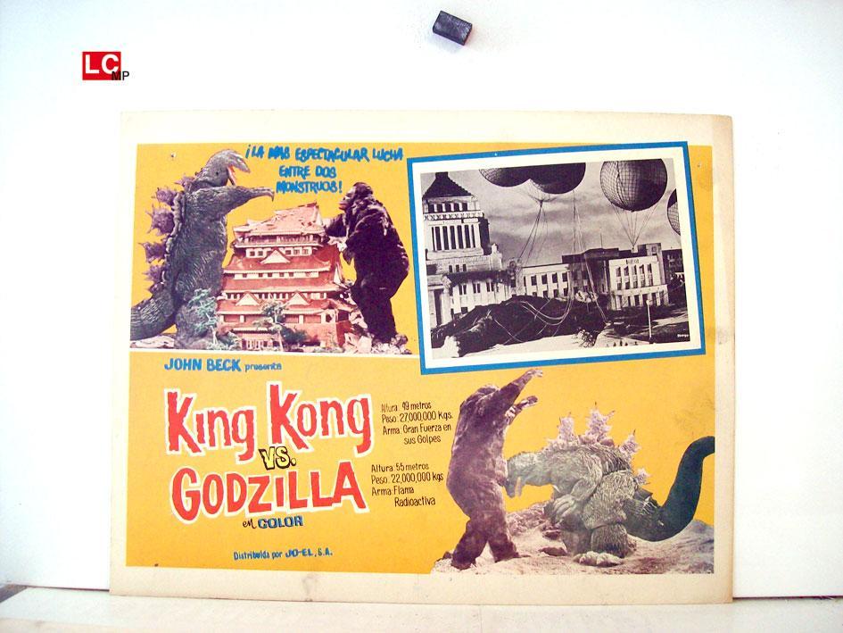 Kingu Kongu tai Gojira MOVIE POSTER/KING KONG VS. GODZILLA/MEXICAN LOBBY CARD