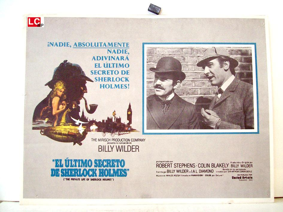 THE PRIVATE LIFE OF SHERLOCK HOLMES MOVIE POSTER/EL ULTIMO SECRETO DE SHERLOCK HOLMES/MEXICAN LOBBY CARD