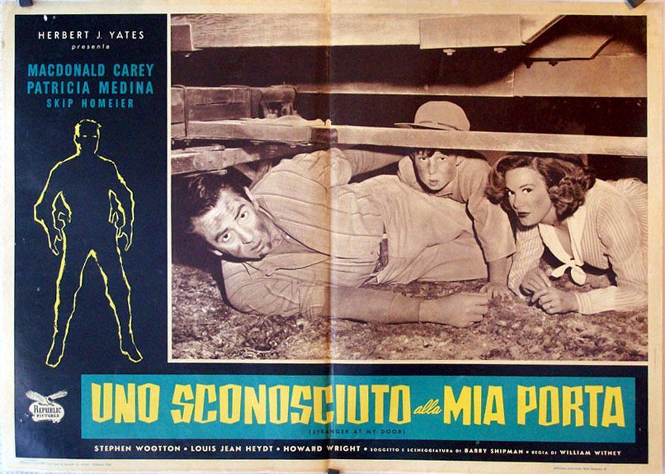 STRANGER AT MY DOOR MOVIE POSTER/UNO SCONOSCIUTO ALLA MIA PORTA/FOTOBUSTA