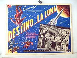 Destination Moon MOVIE POSTER/DESTINO LA LUNA/MEXICAN LOBBY CARD