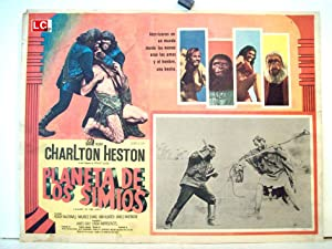 PLANET OF THE APES MOVIE POSTER/PLANETA DE LOS SIMIOS/MEXICAN LOBBY CARD