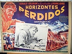LOST HORIZON MOVIE POSTER/HORIZONTES PERDIDOS/MEXICAN LOBBY CARD