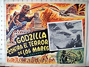 Godzilla vs. the Sea Monster MOVIE POSTER/GODZILLA CONTRA EL TERROR DE LOS MARES/MEXICAN LOBBY CARD