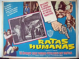 PORTRAIT A MOBSTER MOVIE POSTER/RATAS HUMANAS/MEXICAN LOBBY
