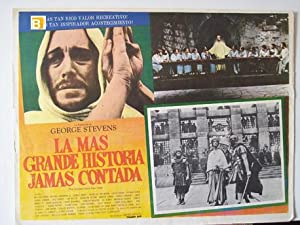 THE GREATEST STORY EVER TOLD MOVIE POSTER/LA MAS GRANDE HISTORIA JAMAS CONTADA/MEXICAN LOBBY CARD
