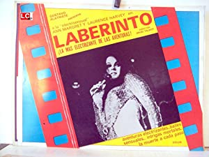 LABYRINTH MOVIE POSTER/LABERINTO/MEXICAN LOBBY CARD