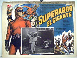 L'INVINCIBILE SUPERMAN MOVIE POSTER/SUPERARGO EL GIGANTE/MEXICAN LOBBY CARD