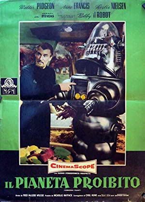 FORBIDDEN PLANET MOVIE POSTER/IL PIANETA PROIBITO/FOTOBUSTA