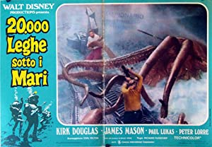 20000 LEAGUES UNDER THE SEA MOVIE POSTER/20000 LEGHE SOTTO I MARI/FOTOBUSTA