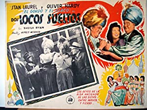 A-HAUNTING WE WILL GO MOVIE POSTER/DOS LOCOS SUELTOS/MEXICAN LOBBY CARD