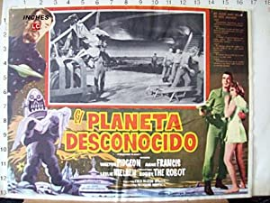 FORBIDDEN PLANET MOVIE POSTER/EL PLANETA DESCONOCIDO/MEXICAN LOBBY CARD