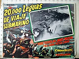 20000 LEAGUES UNDER THE SEA MOVIE POSTER/20000 LEGUAS DE VIAJE SUBMARINO/MEXICAN LOBBY CARD