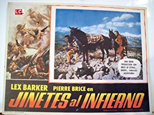 JINETES AL INFIERNO MOVIE POSTER/JINETES AL INFIERNO/MEXICAN LOBBY CARD
