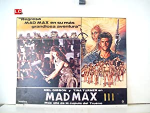 MAD MAX BEYOND THUNDERDOME MOVIE POSTER/MAD MAX III/MEXICAN LOBBY CARD