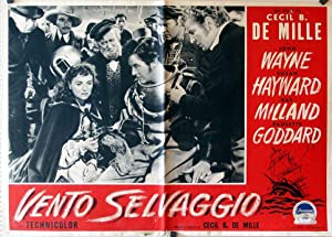 REAP THE WILD WIND MOVIE POSTER/VENTO SELVAGGIO/FOTOBUSTA