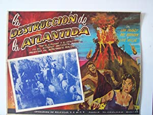 Undersea Kingdom MOVIE POSTER/LA DESTRUCCION DE LA ATLANTIDA/MEXICAN LOBBY CARD