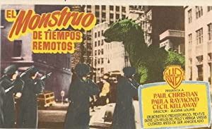 THE BEAST FROM 20.000 FATHOMS MOVIE POSTER/EL MONSTRUO DE TIEMPOS REMOTOS/HERALD
