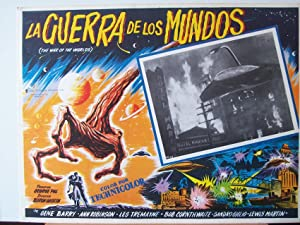 THE WAR OF THE WORLDS MOVIE POSTER/LA GUERRA DE LOS MUNDOS/MEXICAN LOBBY CARD