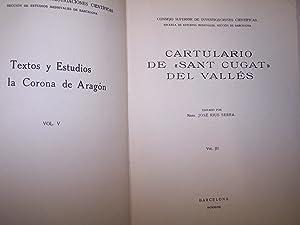 """CARTULARIO DE """"SANT CUGAT"""" DEL VALLES, AMB ÍNDEX TOPONÍMIC DEL CARTULARI DE..."""