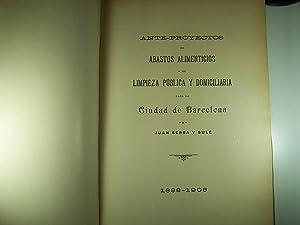 ANTE-PROYECTOS DE ABASTOS ALIMENTICIOS Y LIMPIEZA PÚBLICA Y DOMICILIARIA PARA LA CIUDAD DE ...