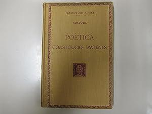 POETICA: CONSTITUCIO D'ATENES: ARISTOTIL