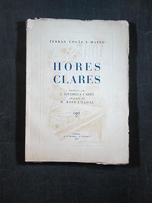 HORES CLARES: COLAS MATEO, FERRAN