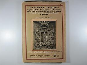 HISTORIA DE OLOT: CAPITULO DE LA PREHISTORIA,: DANES TORRAS, JOAQUIN