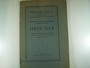 ESTUDIOS PREVIOS PARA LA MUNICIPALIZACION DEL SERVICIO DE AGUAS: MEMORIA PRESENTADA AL CONCURSO ...