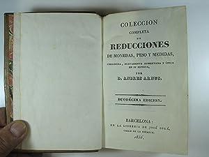 COLECCION COMPLETA DE REDUCCIONES DE MONEDAS, PESO Y MEDIDAS. REDUCCIÓN DE ESCUDOS DE CINCO ...