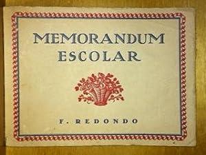 MEMORANDUM ESCOLAR: REDONDO, F.