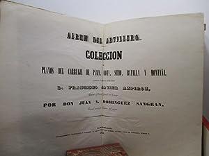 ÁLBUM DEL ARTILLERO. AÑO 1848. 23 Láminas. Completo, Raro.: Azpiroz, Francisco Javier. - Domínguez ...