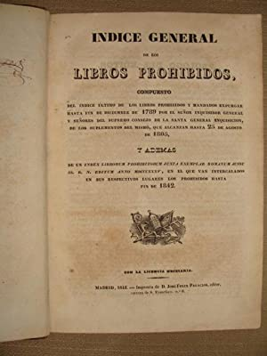 Indice general de los libros prohibidos, compuesto: S/a.