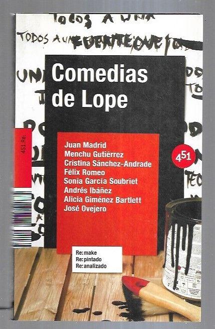 COMEDIAS DE LOPE - VARIOS (JUAN MADRID / MENCHU GUTIERREZ / CRISTINA SANCHEZ-ANDRADE / FELIX ROMEO / ANDRES IBAÑEZ / ALICIA GIMENEZ BARTLETT Y OTROS)