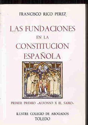 FUNDACIONES EN LA CONSTITUCIÓN ESPAÑOLA - LAS: RICO PÉREZ, FRANCISCO