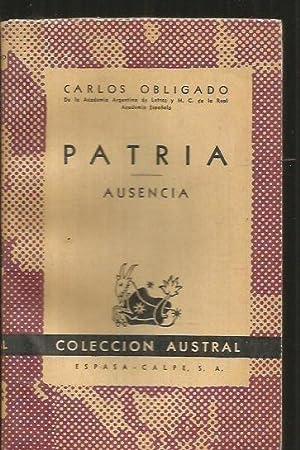 PATRIA / AUSENCIA: OBLIGADO, CARLOS