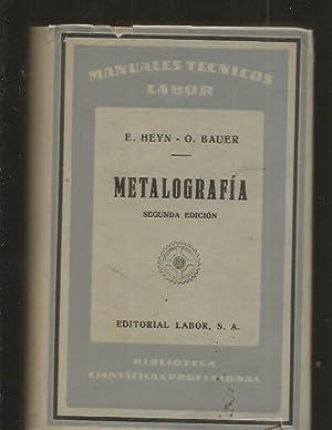 METALOGRAFIA: HEYN, E. Y