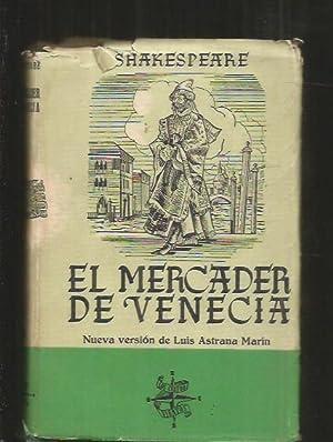 MERCADER DE VENECIA - EL: SHAKESPEARE, WILLIAM