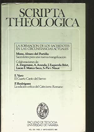 SCRIPTA THEOLOGICA. VOL.XXII-FASC. 2 (MAYO-AGOSTO) 1990: VARIOS