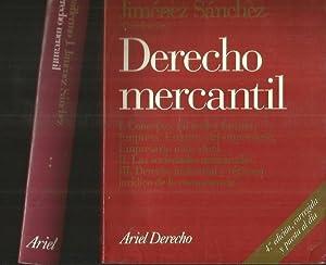 DERECHO MERCANTIL (2 TOMOS): JIMENEZ SANCHEZ, GUILLERMO