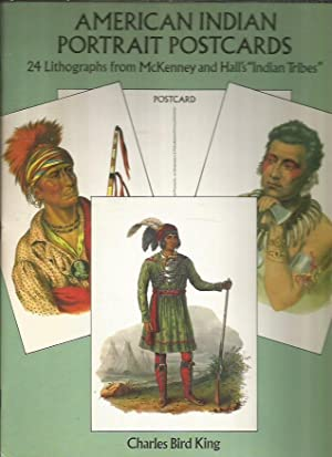 AMERICAN INDIAN PORTRAIT POSTCARDS. 24 LITHOGRAPHS FROM: KING, CHARLES BIRD