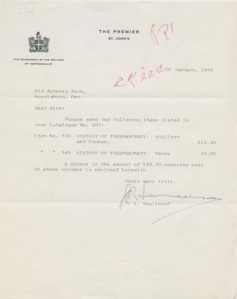 Typed signed letter (TSL) of