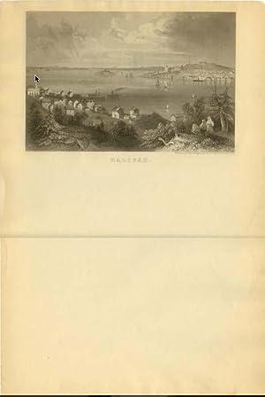 "Lettersheet B&W ""Halifax"" [Charles Magnus]: MAGNUS, Charles [1826"