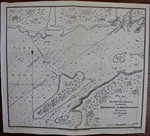 Plan of the Different Channels Leading from Kingston to Lake Ontario ; surveyed by Josh. Bouchett...