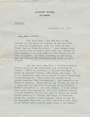 MacKenzie King typed signed letter (TSL ): KING, William Lyon