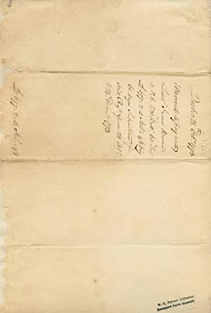 Guy Carleton, Lord Dorchester, Document Signed giving an account of money that is owed from October...