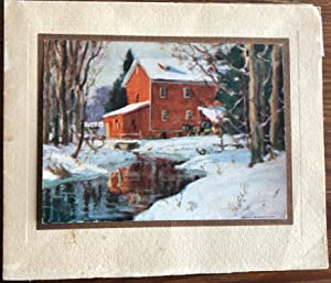 Christmas Card Print of Bruce's Mill titled
