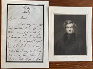 Charles Buller (Chief secretary to Lord Durham) 2 page autographed signed letter and b&w engraving